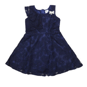 Doodle Girls Midi/Knee Length A-Line Party Dress- Navy- 6Y