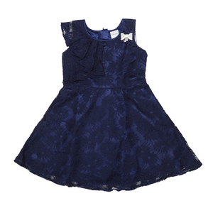 Doodle Girls Midi/Knee Length A-Line Party Dress- Navy- 12Y