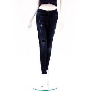 Desi Belle High Waist Skinny Fit Ankle Length Jeans -Dark Blue