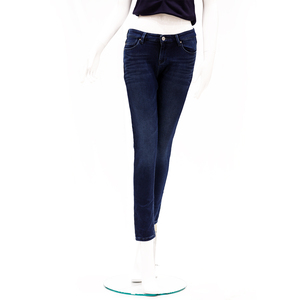 Desi Belle Mid Waist Skinny Fit Ankle Length Jeans -Dark Blue