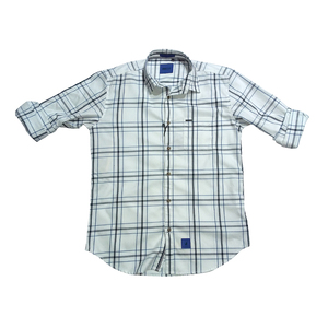 River Blue Mens Shirt  Sm-02970  Full Sleeves White