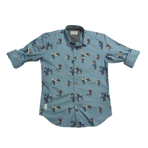 River Blue Mens Shirt  Sm-02990  Full Sleeves Sky